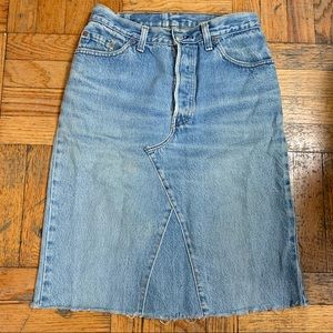 Vintage Levi's High Waisted Denim Skirt